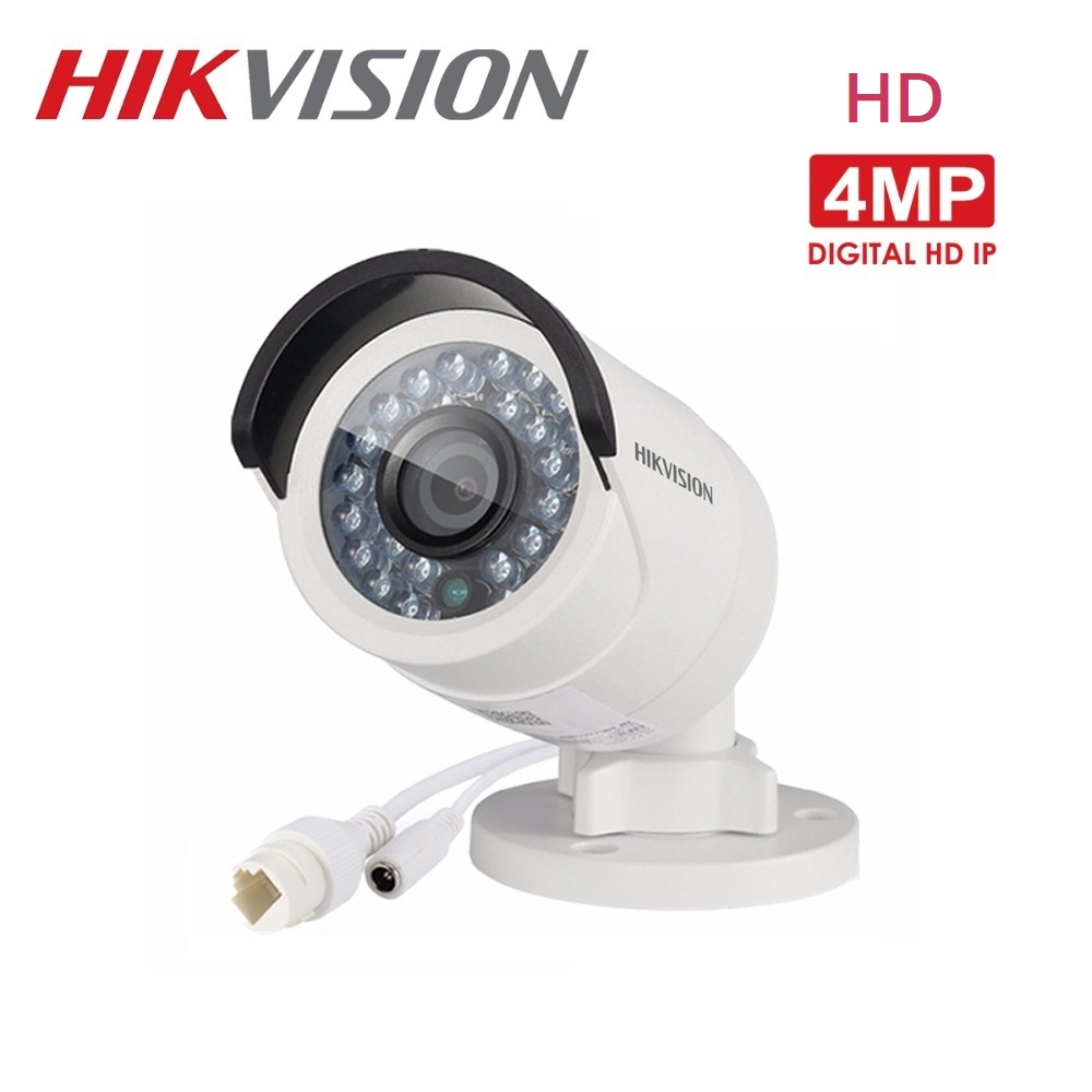 HIKVISION English Version DS 2CD2042WD I 4MP POE Onvif Outdoor IP Camera 30m IR Distance IP66 weatherproof CCTV Security Camera
