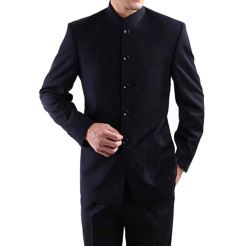 2018 Marque Hommes Costumes Grande taille Chinois Col Mao Homme Costume  Slim Fit Blazer Mariage Terno Smoking 2 pièces Veste et pantalon dans  Costumes de ... 03c4576ae6f