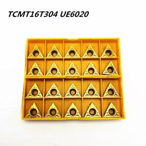 Image 2 - 20 個旋盤ツール TCMT16T304 UE6020 外部旋削工具高品質超硬切削旋盤ツール TCMT16T304 金属旋削工具