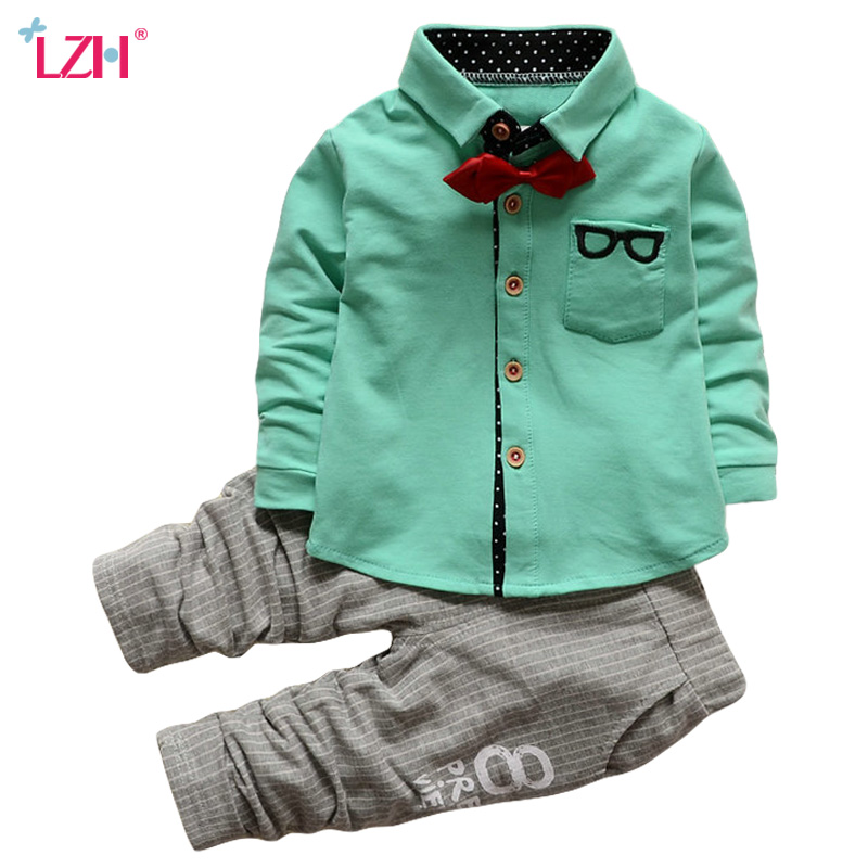 Children Clothing Set 2018 Autumn Winter Boys Clothes T-shirt+Pant 2pcs Christmas Outfit Kids Clothes Suit For Boys Clothing Set kids autumn clothes fashion letter printed boys t shirt set casual children clothing girl winter clothes for kids baby clothing