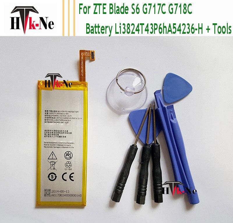 Li3824T43P6hA54236 H Battery For ZTE Blade S6 5 0 inch G717C G718C High Quality 2400mah Li