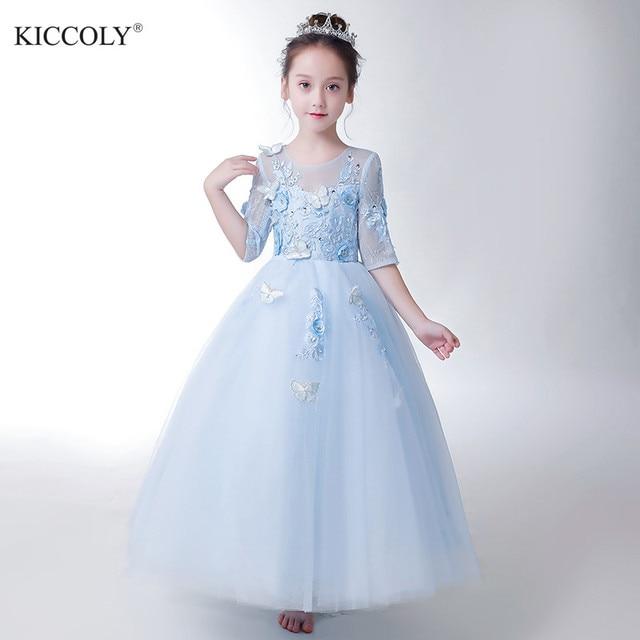 63b2618b218a Aliexpress.com   Buy Elegant Beaded Butterfly Flower Girl Dress ...