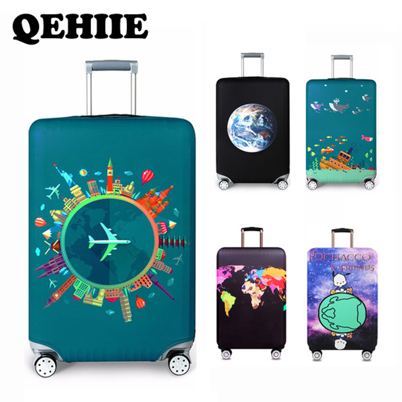 Thicken Travel Case Cover Travel Around The World Flexible Luggage Dust Cover Travel Accessories Luggage Cover