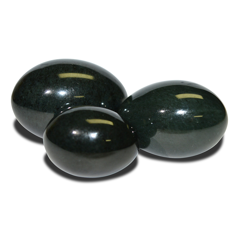 Jade Yoni Egg of 3pcs Nephrite Jade Eggs For Women Kegel Exercise For Pelvic Floor Stone Jade Massager natural nephrite jade eggs feminine hygiene ben wa ball yoni eggs jade yoni egg for women kegel exercise pelvic floor muscles