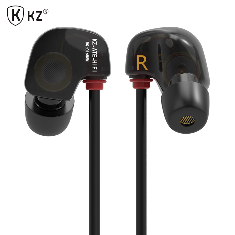 Original KZ ATE S In Ear Earphones HIFI KZ ATE-S Stereo Sport Earphone Super Bass Noise Canceling Hifi Earbuds With Mic