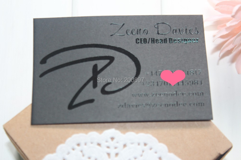 High Class paperboard business cards spot UV coated name cards ...