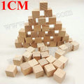 100PCS/LOT.1cm cube,Solid wood cube,Wooden block, Early educational toys,Assemblage block.Kids toys,Match toys,Creative fun.