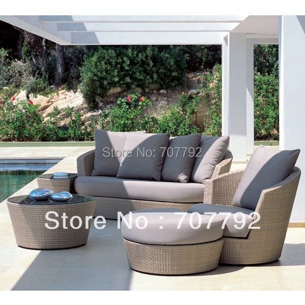 Patio Wicker Furniture Garden Sofa Sets Outdoor Lounger Chairs