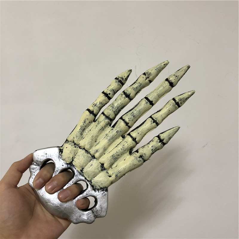 Halloween Cosplay Prop White Skeleton Palm Scary Paw 1:1 PU Weapon Movie Game Anime Cos Kids Role Play Gift Safety