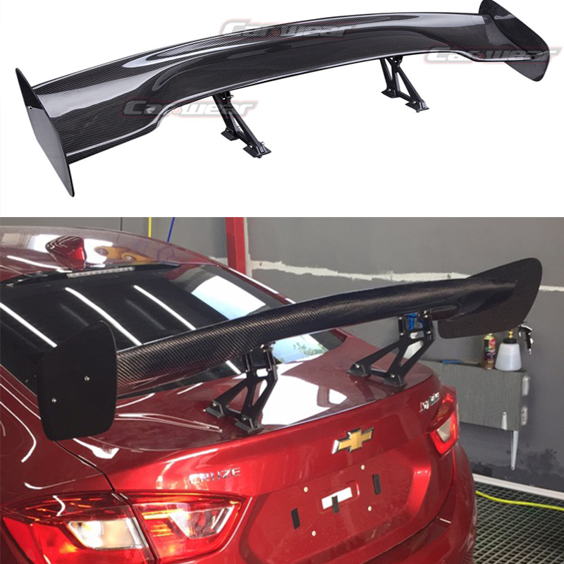 Auto car carbon fiber rear trunk spoiler gt wing for for Wing motors automobiles miami fl