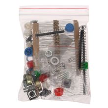 High Quality New Arrival 1Set Electronic Parts Pack Kit Component Resistors LED Switch Potentiometer Button Cap HM For arduino(China)