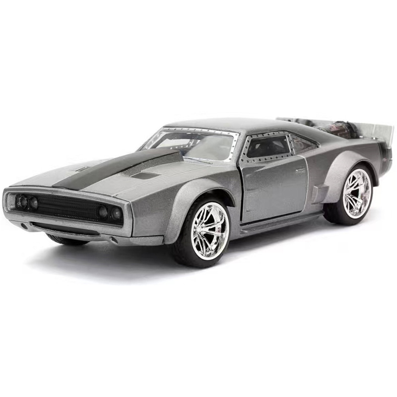 car styling1:24 Dom Dodge Ice Charger Orange Diecast Model Fast & Furious 8 Car Metal Classical Cars boys gift children's Toys ixo 1 43 dodge dart dodge daet alloy model cars