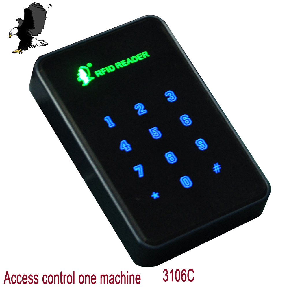 Carea 13.56MHz RFID Touch Screen Keypad Access Control EM Card Standalone Access Control 1000 Users for Door Security carea 1000 user proximity wg26 rfid 125khz em card plastic access control keypad standalone access control cr 3105a