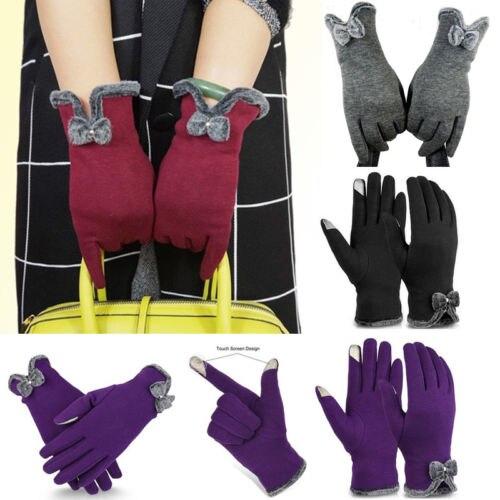 2017 Women Winter Gloves Touch Screen Warm Gloves Outdoor Driving Gloves Mittens Gift