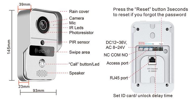Image 5 - Smart 720P Home WiFi Video Door phone intercom Doorbell Wireless Unlock Peephole Camera Doorbell Viewer 220v IOS Android-in Video Intercom from Security & Protection