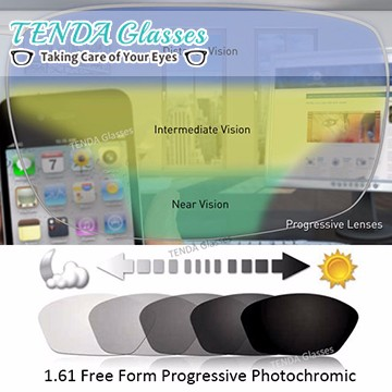 Lens - 1.61 Free Form Progressive Photochromic Lens - logo