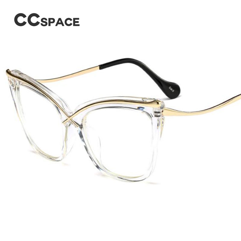 45124 Ladies Cat Eye Brow Line Glasses Frames Men Women Brand Designer Optical EyeGlasses Fashion Eyewear