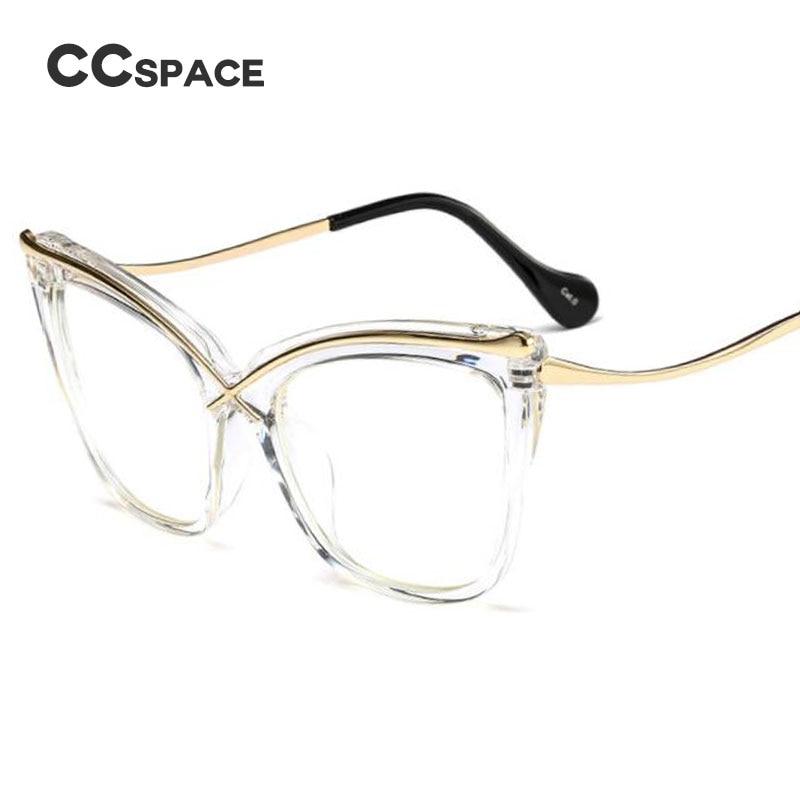 Line Optical Designer : Ccspace ladies cat eye brow line glasses frames men women