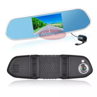 DR101 Driving Recorder Car Detector DVR Rearview Mirror Camera Wide Shoo 170 Degree HD 1080P G