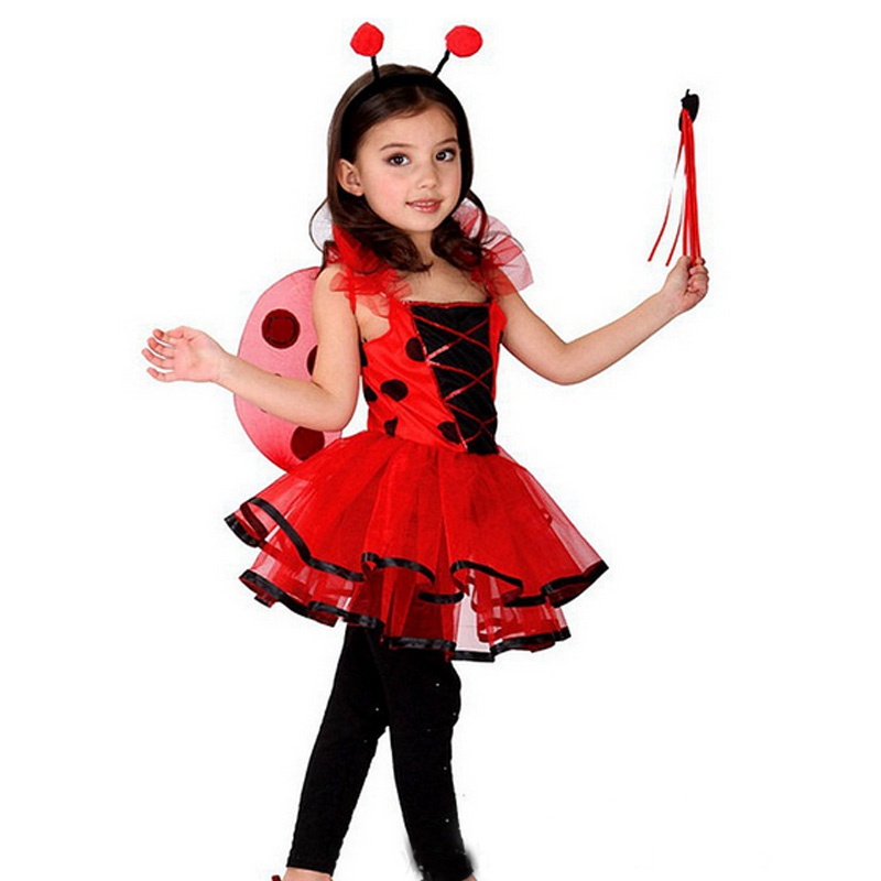 2017 Halloween Costume Cute Kawaii Bee Cosplay Fashion Princess Fancy Party Dress Girls Clothes Kids Clothing Vestidos