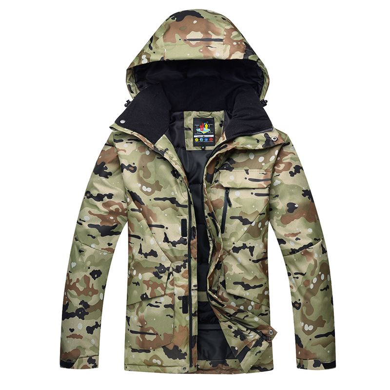 Camouflage Men's Snow Wear Special For Snowboarding Jackets Skiing Suit Coats Waterproof Windproof Thicker Cotton Winter Outdoor Snow Costumes For Male