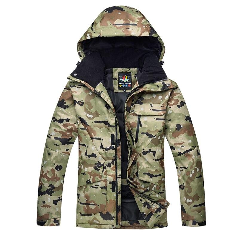 Ropa de camuflaje especial para la nieve para hombre, chaquetas de snowboard, abrigos de traje de esquí, impermeable, a prueba de viento, algodón grueso, invierno, trajes de nieve para exteriores para hombre