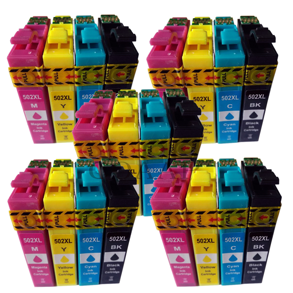 Compatible Ink Cartridge For EPSON 502 T502 XL For Expression Premium XP5100 XP5105 & Wrokforce Wf-2865 Wf-2860 Printer
