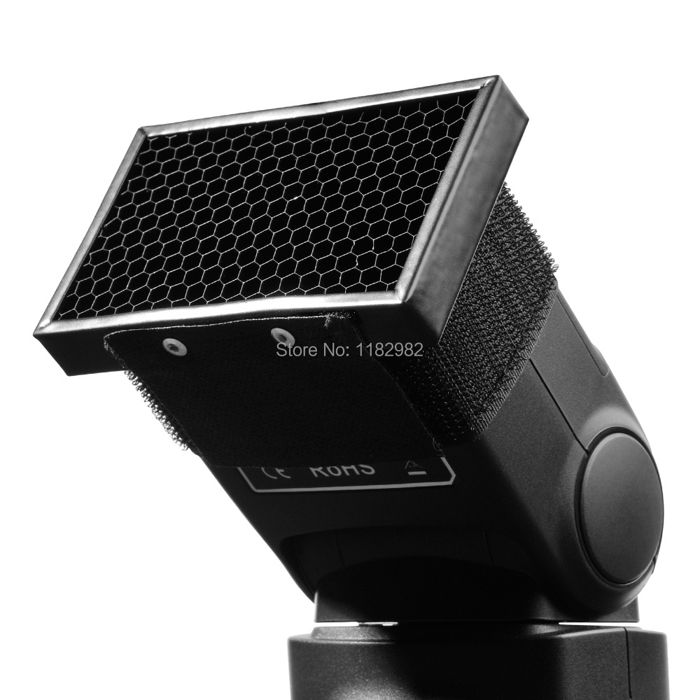 Exempt postage tracking number HC 01 Honeycomb Grid Spot Flash Diffuser Softbox For Canon Nikon 580EX
