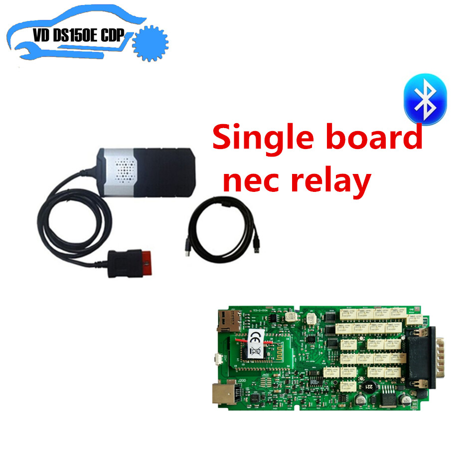 2015.2 free actived cd for delphi single pcb board nec relay vd ds150e cdp pro plus single board pcb obd2 interface obdii diagnostics vd tcs cdp bluetooth usb cable full 8car cables for car and truck generic 3in1