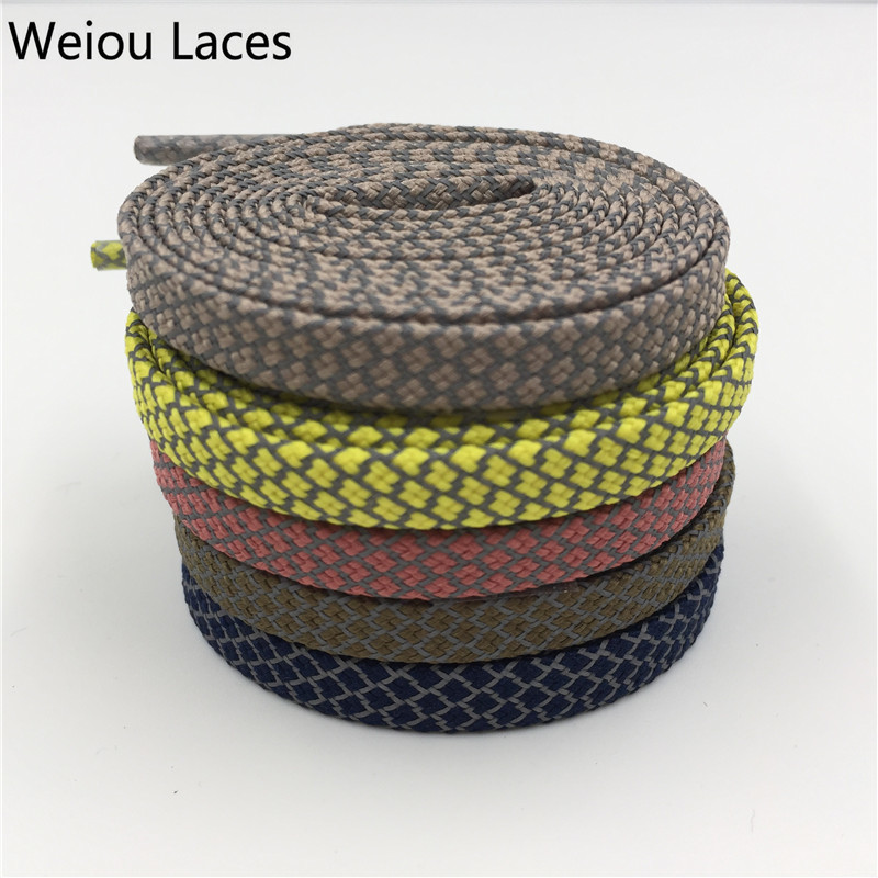 (100pairs/Lot)Weiou Hot Yellow Flat 3M Reflective Runner Shoe Laces Visible Safety Shoelace Latchet For Ultra Boost 350 750 Boot 50pcs lot d5 0mmx50mm 2flutes flat 100