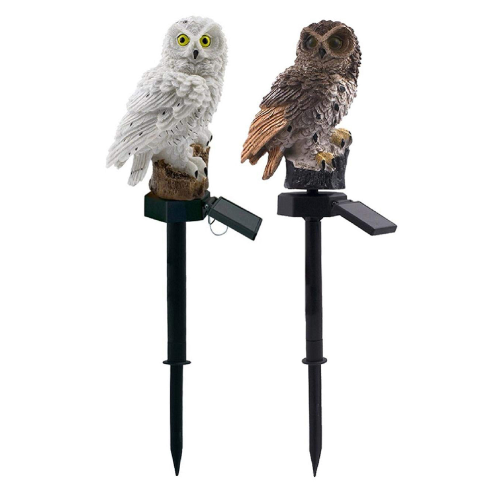 LED Garden Lights Solar Night Lights Owl Shape Lawn Lamp For  Pathway Yard New
