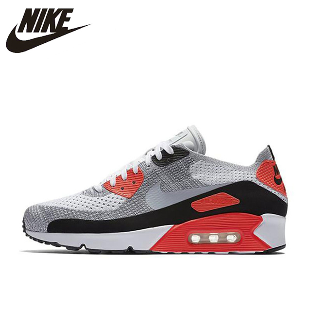 watch 72bb9 92e1d Nike AIR MAX 90 Ultra 2.0 FK Men s Breathable Original New Arrival Official Running  Shoes Sports Sneakers 875943-100