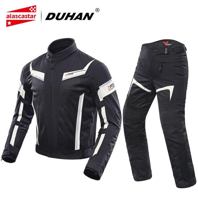 Duhan Motorcycle Jacket Men And Motorcycle Pants Breathable Racing