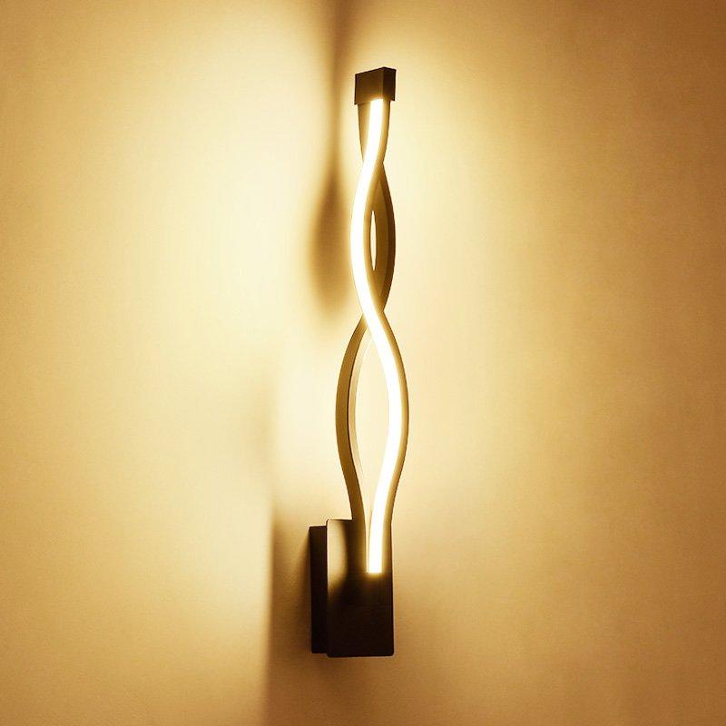 New post modern Corridor LED Wall light Painted Aluminium mirror Front wall light Bedroom Fashion Wall Lighting Fixtures