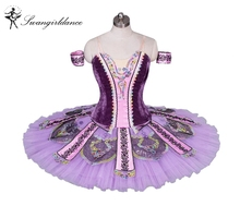 Women Professional Ballet Tutus Purple Adult Ballet Stage Costume Performance Pancake Tutu BT9033
