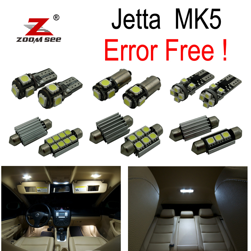 17pc x Canbus for VW Volkswagen jetta 5 MK5 MKV map dome LED interior light + parking city bulb kit package (2005-2010) 13pcs canbus car led light bulbs interior package kit for 2006 2010 jeep commander map dome trunk license plate lamp white page 4