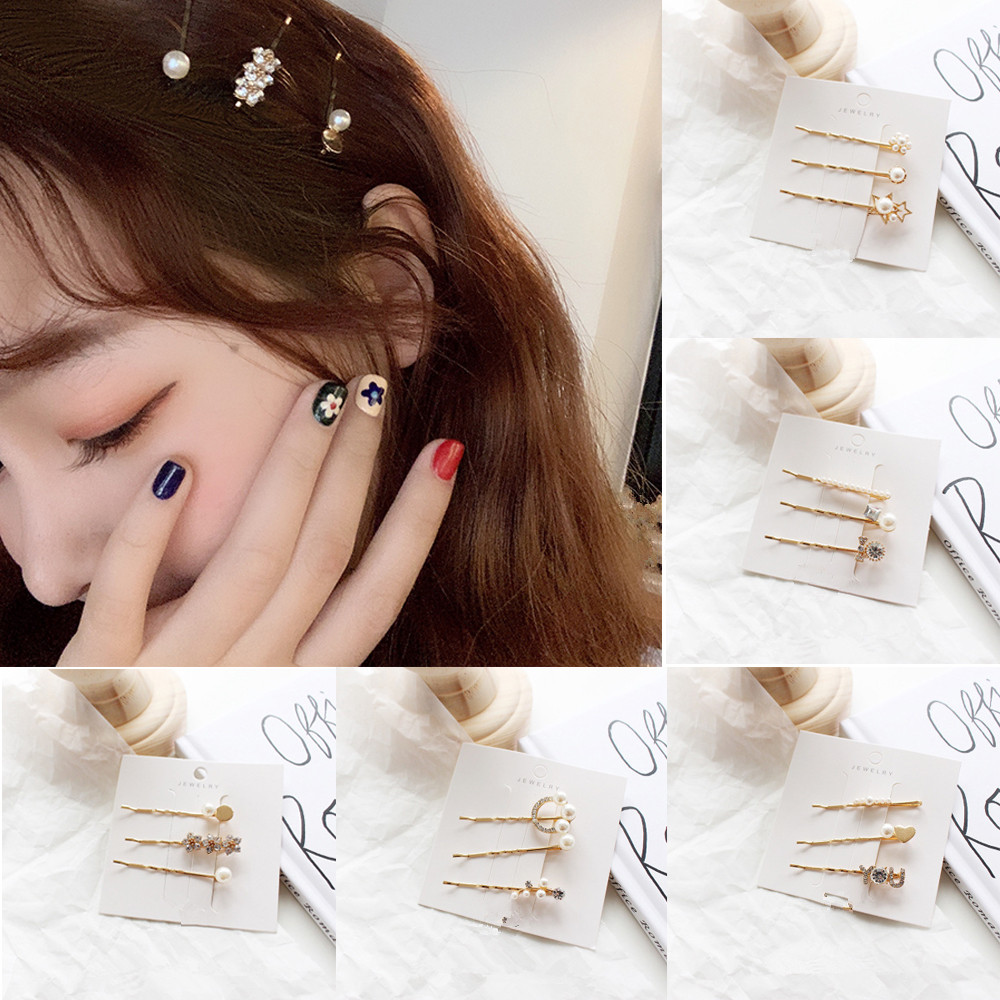 Romantic Korea East Gate Style Imitation Pearls Hair Pins Flower Butterfly Bow Hair Clips For Girl Women Fashion Hair Accessories Back To Search Resultsapparel Accessories