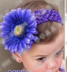 Детская повязка на голову 60 пар крючком Банданы для мужчин+ 60 pairsgerbera цветы ромашки/Детские, Headbows, дети Глава Интимные аксессуары