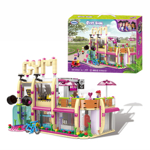 XINGBAO 12002 New 905Pcs City Girl Series The Gym Club Set MOC Building Blocks Bricks Toys Model For Children As Girl Gifts цена