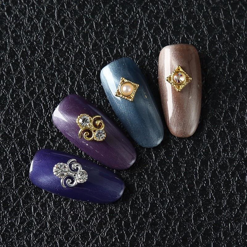 Art Decorations Retro Hollowed Metal Alloy Diamond Jewelry DIY Glitter Stones For Nails