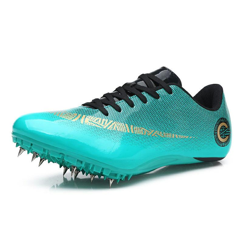 2019 New Track and Field for Men Lace Up Slip resistant Spike Nail Sneakers Teenager Professional