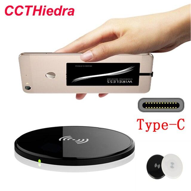 Ультратонкий Ци Беспроводное Зарядное Устройство Pad + Тип C Приемник Принять Набор Ци беспроводной Комплект Зарядки Для Xiaomi 5 LG G5 Nexus 5X Huawei P9