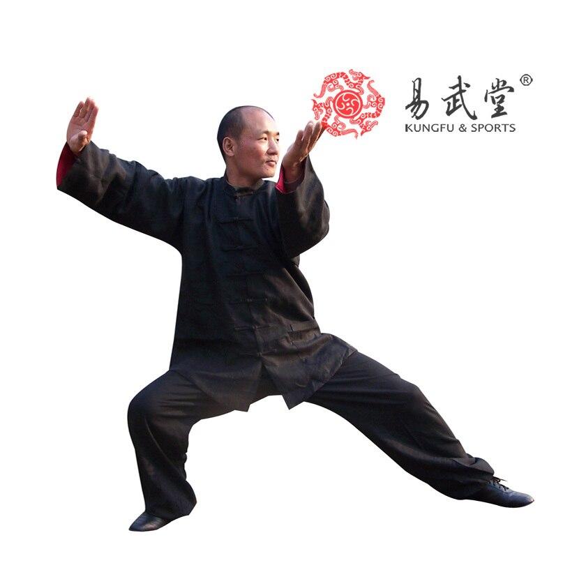 [yiwutang] 98% Washed Linen Double Face Tai Chi Uniform, Kung Fu Suit And Wu Shu Clothing