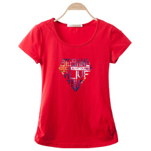 New 2017 Fashion Summer Casual Women's T-shirt Short Sleeve O-Neck Tops tees Loose shirts Plus size