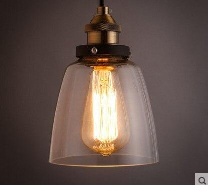 60W  Edison Retro Loft Style Vintage Industrial Lighting Pendant Lights with Glass Lamp Shade,Lustres De Sala Teto