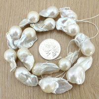 New Arrival!!Natural White Baroque Loose Pearl Strand 20 27mm Nucleated Pearls DIY Jewelry Accessories Party Gifts EE3013