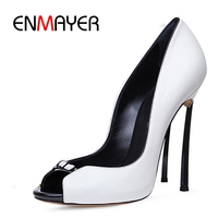 ENMAYER New Fashion women extremely high sandals lady sexy pub slip on thin heels women casual shoes ZYL235