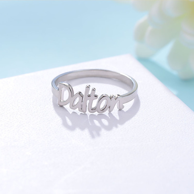 Gold color Name Ring Unique Design Fashion Ring for Women Hot Sale Custom Name R