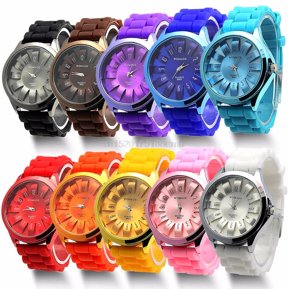 Pretty Jelly Wrist Watch Men Women Silicone Quartz Sports Watch Geneva Wristwatch
