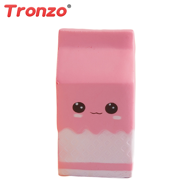 Tronzo 12cm Kawaii Squishy Toys Squeezable Smile Milk Box/Can/Bottle Anti Stress Squishy Slow Rising Novelty Toy Gift For Girl